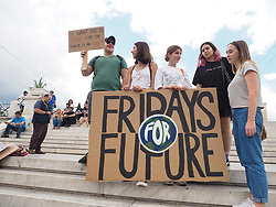 May 24, 2019 - Athens, Attiki, Greece - Young activists demonstrate in Athens against climate change as part of th Fridays for Future movement. (Credit Image: © George Panagakis/Pacific Press via ZUMA Wire)
