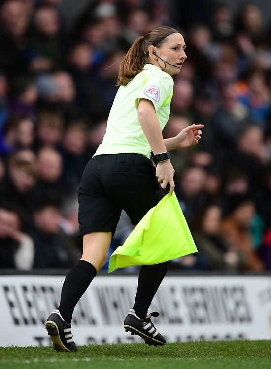 Assistant referee Sian Massey-Ellis<br /> <br /> Photographer Chris Vaughan/CameraSport<br /> <br /> The EFL Sky Bet League Two - Grimsby Town v Doncaster United - Saturday 1st April 2017 - Blundell Park - Grimsby<br /> <br /> World Copyright © 2017 CameraSport. All rights reserved. 43 Linden Ave. Countesthorpe. Leicester. England. LE8 5PG - Tel: +44 (0) 116 277 4147 - admin@camerasport.com - www.camerasport.com