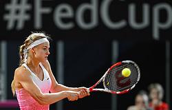 07-02-2015 NED: Fed Cup Nederland - Slowakije, Apeldoorn<br /> Anna Schmiedlova