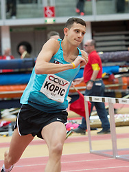 06.02.2015, Linz, AUT, Tipsarena der Stadt Linz, Gugl Indoor, Leichtathletic Meeting, im Bild Josip Kopic, AUT Hochsprung // Josip Kopic, AUT, high jump during Gugl Indoor, Linz, Austria on 2015/02/06. EXPA Pictures © 2015, PhotoCredit: EXPA/ Reinhard Eisenbauer