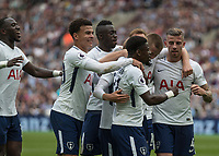 Football - 2017 / 2018 Premier League - West Ham United vs Tottenham Hotspur<br /> <br /> Tottenham players celebrate their third goal at the London Stadium<br /> <br /> COLORSPORT/DANIEL BEARHAM