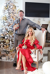 EXCLUSIVE: Gretchen Rossi stuns in a fancy red gown as she readies her home for the Christmas season. The former RHOC star loves the festive season and completley transforms her beautiful Costa Mesa, Ca home into a winter wonderland with the help of her hubby. 04 Dec 2017 Pictured: Gretchen Rossi, Slade Smiley. Photo credit: MOVI Inc. / MEGA TheMegaAgency.com +1 888 505 6342