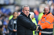 Portsmouth Manager, Kenny Jackett during the EFL Sky Bet League 1 match between Portsmouth and Rochdale at Fratton Park, Portsmouth, England on 13 April 2019.