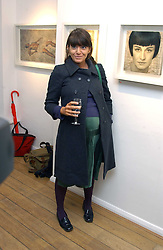 CLAUDIA WINKLEMAN at an exhibition of artist Jonathan Yeo's portrait paintings held at Eleven, 11 Eccleston Street, London SW1 on 16th February 2006.<br /><br />NON EXCLUSIVE - WORLD RIGHTS