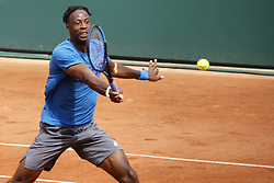 May 23, 2019 - Paris, France - Gael Monfils of France during a training session preparing for Roland Garros finals, in Paris, France, on 23 May 2019. (Credit Image: © Ibrahim Ezzat/NurPhoto via ZUMA Press)