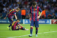 Delusione Lionel Messi, Neymar, Ivan Rakitic Barcellona <br /> Dejection <br /> Berlino 06-06-2015 OlympiaStadion  <br /> Juventus Barcelona - Juventus Barcellona <br /> Finale Final Champions League 2014/2015 <br /> Foto Schuler/Eibner-Pressefoto/Expa/Insidefoto