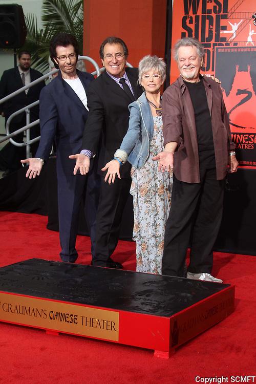 11/15/2011 George Chakiris, Kenny Ortega, Rita Moreno, & Russ Tamblyn at their hand/footprint ceremony at the Chinese Theater