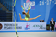 Chaboud Ambre-during qualifying at ribbon in Pesaro World Cup at Adriatic Arena on April 27, 2013. Lucille is a French individual rhythmic gymnast was born on 1997 in Bourgoin Jallieu, France.