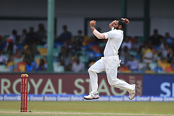 August 5, 2017 - Colombo, Sri Lanka - Indian bowler ..Mohammed Shami delivers a ball during the 3rd Day's play in the 2nd Test match between Sri Lanka and India at the SSC international cricket stadium at the capital city of Colombo, Sri Lanka on Saturday 5th August 2017. (Credit Image: © Tharaka Basnayaka/NurPhoto via ZUMA Press)