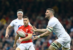 Mark Wilson of England<br /> <br /> Photographer Simon King/Replay Images<br /> <br /> Six Nations Round 3 - Wales v England - Saturday 23rd February 2019 - Principality Stadium - Cardiff<br /> <br /> World Copyright © Replay Images . All rights reserved. info@replayimages.co.uk - http://replayimages.co.uk
