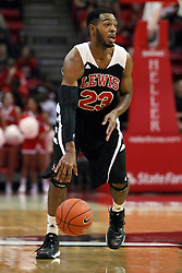 10 November 2014:  Julian Lewis during an exhibition men's basketball game between Lewis University Flyers and the Illinois State Redbirds at Redbird Arena, Normal IL