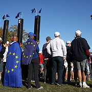 Ryder Cup 2016. Day Two. Spectators watching the game during the Ryder Cup at the Hazeltine National Golf Club on October 01, 2016 in Chaska, Minnesota.  (Photo by Tim Clayton/Corbis via Getty Images)