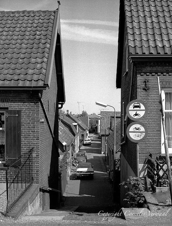 De Kleine Straat (Wilhelmina Straat) in Ammerstol, 1977.