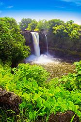 Rainbow Falls, Hilo, Big Island, Hawaii, USA