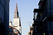 19 SEPTEMBER 2006 - NEW ORLEANS, LOUISIANA: St. Louis Cathedral on Jackson Square in New Orleans, LA. Photo by Jack Kurtz / ZUMA Press