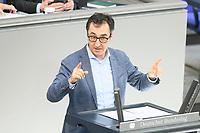 05 MAR 2021, BERLIN/GERMANY:<br /> Cem Ozdemir, MdB, B90/Gruene, haelt eine Rede, waehrend einer Bundestagsdebatte, Plenum, Reichstagsgebaeude, Deutscher Bundestag<br /> IMAGE: 20210305-01-0