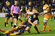 Juan Pablo Socino on the ball during the Guinness Pro 14 2018_19 match between Edinburgh Rugby and Toyota Cheetahs at BT Murrayfield Stadium, Edinburgh, Scotland on 5 October 2018.
