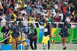 14.08.2016, Olympic Stadium, Rio de Janeiro, BRA, Rio 2016, Olympische Sommerspiele, 100m, Finale, Herren, im Bild Usain Bolt (JAM) // Usain Bolt of Jamaica during the Mens's 100m Final of the Rio 2016 Olympic Summer Games at the Olympic Stadium in Rio de Janeiro, Brazil on 2016/08/14. EXPA Pictures © 2016, PhotoCredit: EXPA/ Johann Groder