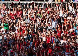 02.08.2017, Allianz Arena, Muenchen, GER, Audi Cup, FC Bayern Muenchen vs SSC Neapel, Spiel um Platz 3, im Bild Fans machen die Welle // during the Audi Cup 3rd place Match between FC Bayern Munich  and SSC Napoli at the Allianz Arena, Munich, Germany on 2017/08/02. EXPA Pictures © 2017, PhotoCredit: EXPA/ JFK