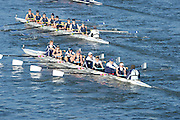 London, United Kingdom. No. 81, Upper Thames RC. B Crew.  from Barnes Rail Bridge. 2014 Women's Head of the River Race. Chiswick to Putney, River Thames.  Saturday  15/03/2014    [Mandatory Credit; Peter Spurrier/Intersport-images]