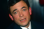 Businessman, Ian Maxwell (b1956) - first son of media tycoon Robert Maxwell - at a press conference on 6th November 1991 in London England. just after his father's unexplained death from a boat in the Mediterranean. Ian Maxwell was appointed chairman of Mirror Group Newspapers plc (MGN) following the death of his father on 5 November 1991. For the next month the group was the subject of speculation regarding its financial position.