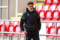 Max Aarons of Norwich City - Mandatory by-line: Ryan Crockett/JMP - 17/10/2020 - FOOTBALL - Aesseal New York Stadium - Rotherham, England - Rotherham United v Norwich City - Sky Bet Championship