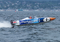 The P1 Scottish Grand Prix of the Sea is the second of four events across the UK for the P1 Powerboat Championship taking place at Greenock.<br /> <br /> <br /> Pictured: Pertemps Network team