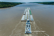 63807-01207 Barge on the Mississippi river near Thebes, IL