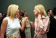Elizabeth Murdoch and  Cate Blanchett.   Pre Bafta party jointly hosted by Tina Brown and Elizabeth Murdoch. St. Martin's Lane Hotel. 8 April 2000<br />