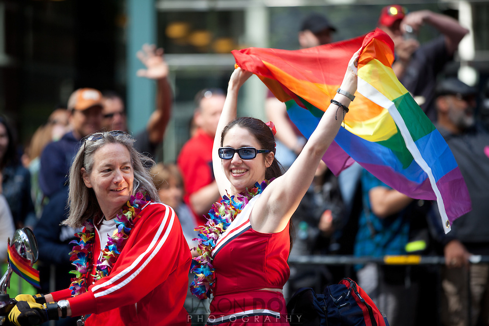 """The 2011 San Francisco Gay Pride Parade called """"In Pride We Trust"""" started at Beale and Market and made its way to 9th..photo by Jason Doiy.©-All Rights Reserved"""