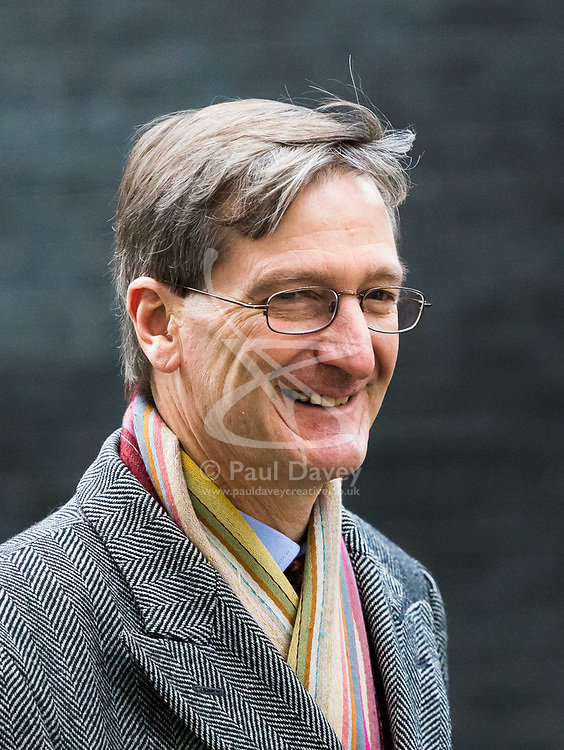 London, November 29 2017. Dominic Grieve MP is seen walking up Downing Street to a meeting at No. 10. © Paul Davey