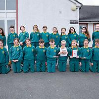5th Class Gaelscoil Mhíchíl Cíosóg Ennis with teacher Ciara Ni Chuirinn