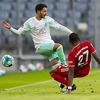 21.11.2020, Allianz Arena, Muenchen, GER,  FC Bayern Muenchen SV Werder Bremen <br /> <br /> <br />  im Bild Leonardo Bittencourt (SV Werder Bremen #10) im kampf mit David Alaba (FCB #27) <br /> <br /> <br /> <br /> Foto © nordphoto / Straubmeier / Pool/ <br /> <br /> DFL regulations prohibit any use of photographs as image sequences and / or quasi-video.