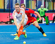 The Netherlands Mirco Pruyser. Russia v The Netherlands - Unibet EuroHockey Championships, Lee Valley Hockey & Tennis Centre, London, UK on 25 August 2015. Photo: Simon Parker