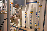 Rocket exhibitor at the Paris Air Show, June 2007.