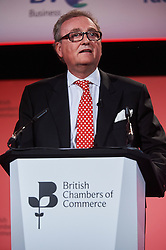© Licensed to London News Pictures. 03/03/2016 London UK. John Longworth Director General of the British Chambers of Commerce has resigned from his post makes his controversial speech in support of Brexit at The British Chamber of Commerce Annual Conference 2016 at The QEII Conference Centre, Westminster.<br /> Photo credit : Simon Jacobs/LNP