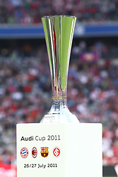 27.07.2011, Allianz Arena, Muenchen, GER, Audi Cup 2011, Finale,  FC Barcelona vs FC Bayern , im Bild Der Cup // during the Audi Cup 2011,  FC Barcelona vs FC Bayern  , on 2011/07/27, Allianz Arena, Munich, Germany, EXPA Pictures © 2011, PhotoCredit: EXPA/ nph/  Straubmeier       ****** out of GER / CRO  / BEL ******