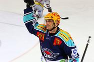 08.Maerz 2012; Rapperswil-Jona; Eishockey NLA - Rapperswil-Jona Lakers - Geneve-Servette HC;<br />  Stacy Roest (Lakers) jubelt (Thomas Oswald)