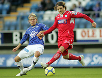 Fotball, <br /> 03.10.2010 , <br /> Tippeligaen  ,<br /> Eliteserien ,<br /> Molde - Kongsvinger 2-0 ,<br /> Aker stadion ,<br /> <br /> Emil johansson - molde<br /> Carl-erik torp - kongsvinger<br /> <br /> <br /> Foto: Richard brevik , Digitalsport