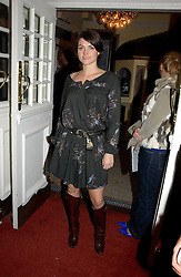 HOLLY DAVIDSON at the Grand Classics screening of Manhattan hosted by Giles Deacon at the Electric Cinema, Portobello Road, London W11 on 13th November 2006.<br /><br />NON EXCLUSIVE - WORLD RIGHTS