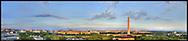 Panoramic View of Washington, DC.  Includes The Capitol, Washington Monument, Smithsonian Mall, The White House, among other Washington, DC landmarks and Washington, DC Monuments..Print Sizes (inches): 15x3.5; 24x5.5; 36x8; 48x10.5; 60x13; 72x18
