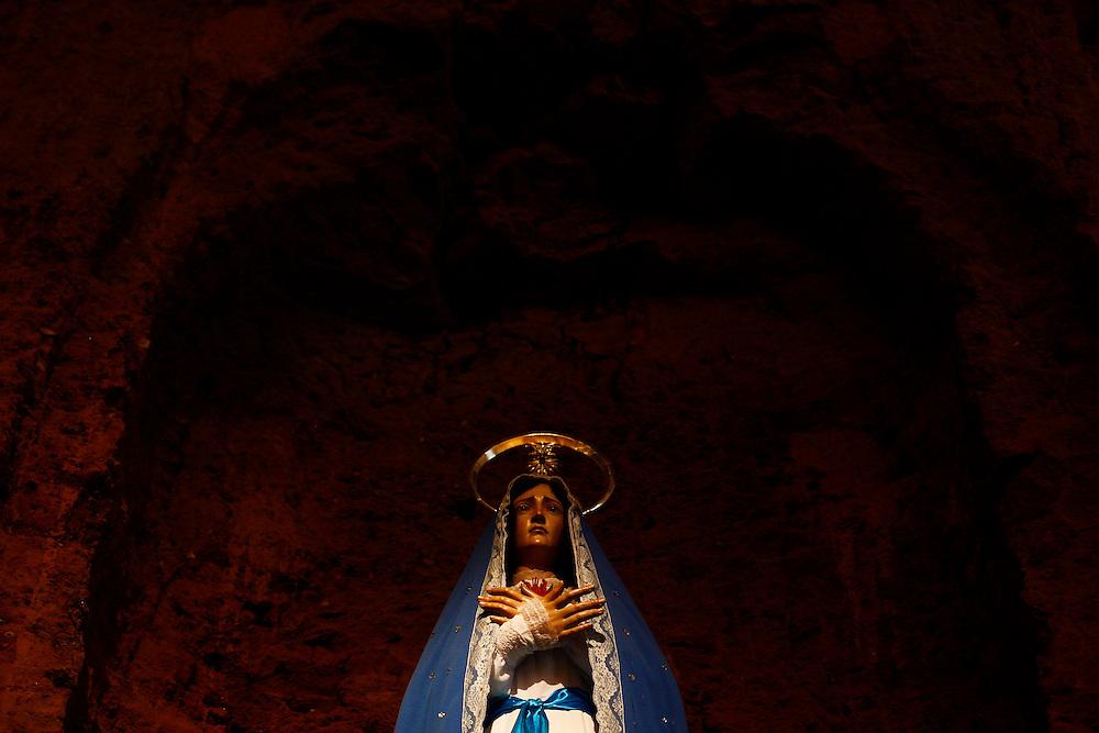 Pirenopolis_GO, Brasil.<br /> <br /> Nossa Senhora das Dores, na Igreja Matriz Nossa Senhora do Rosario em Pirenopolis, Goias.<br /> <br /> Our Lady of Sorrows in Nossa Senhora do Rosario mother church in Pirenopolis, Goias.<br /> <br /> Foto: MARCUS DESIMONI / NITRO