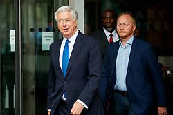 © Licensed to London News Pictures. 11/06/2017. London, UK. Defence Secretary MICHAEL FALLON leaves BBC Broadcasting House in London on Sunday 11 June 2017. Photo credit: Tolga Akmen/LNP