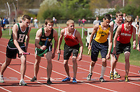 Merrimack Valley Invitational track meet April 21, 2011.  Karen Bobotas/for the Concord Monitor