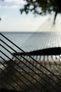 Mauritius Island. Relaxing in hammock at Hilton Resort Hotel