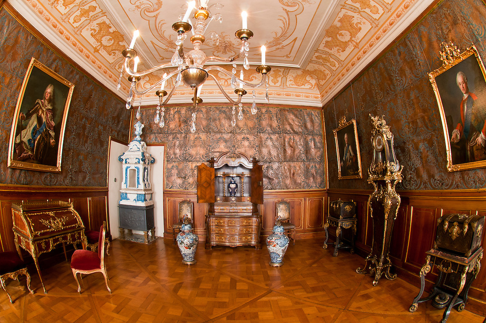 Kurfurstenzimmer I, Interior view, Schloss Moritzburg (castle), Moritzburg, Saxony, Germany
