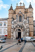 Exterior of the Santa Cruz Monastery (Church of the Holy Cross) in Coimbra, Portugal, founded in 1131