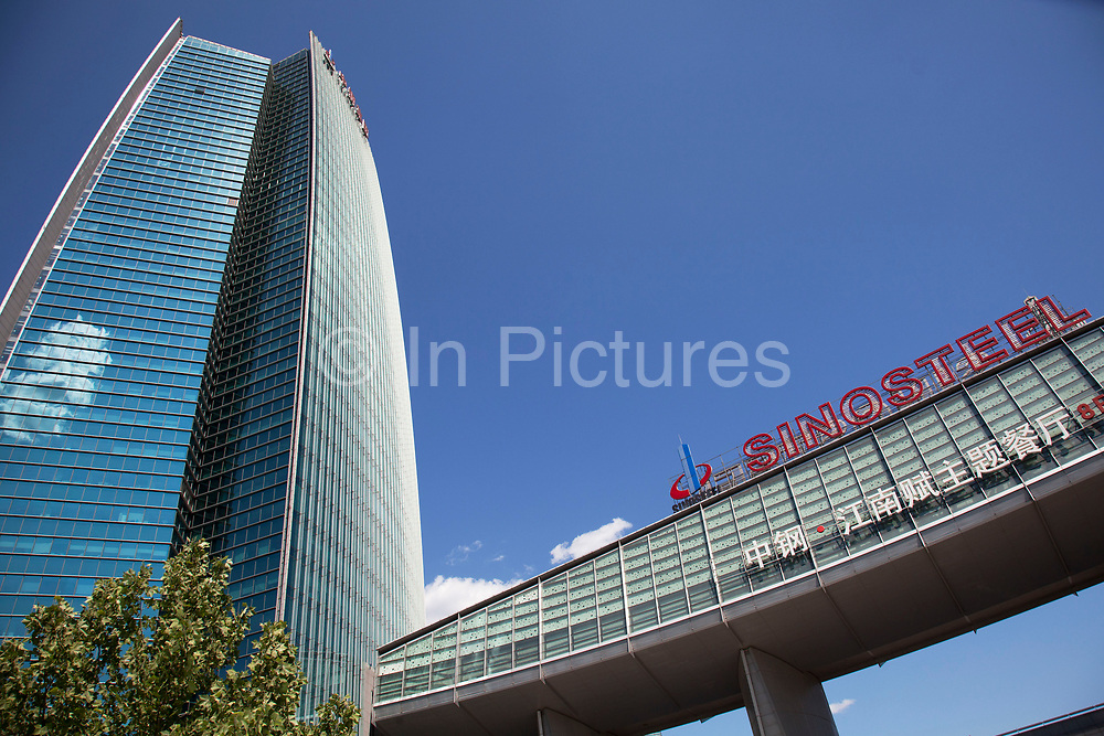 Sinosteel offices. Zhongguancun or Zhong Guan Cun, is a technology hub in Haidian District, Beijing, China. It is situated in the northwestern part of Beijing city. Zhongguancun is very well known in China, and is often referred to as China's Silicon Valley. This is Beijing's computer district with numerous tech companies offices situated here amongst the many malls which sell electronics and electrons equipment of all kinds. The tech park started as a small office where two decades ago some students from a nearby university decided that computer equipment may be a thing of the future so set up a small company. It has expanded in this time to  cover many square kilometres.