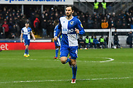 Ed Upson (6) of Bristol Rovers during the EFL Sky Bet League 1 match between Bristol Rovers and Blackpool at the Memorial Stadium, Bristol, England on 15 February 2020.