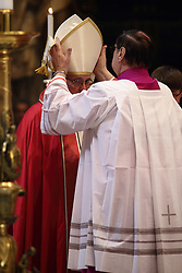 Apr 24, 2017 - Vatican City State (Holy See) - POPE FRANCIS during the funeral service of Cardinal Attilio Nicora in St. Peter's Basilica a t the Vatican. (Credit Image: © Evandro Inetti via ZUMA Wire)